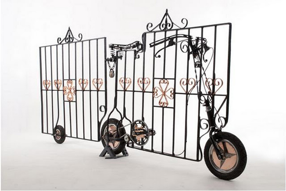 Locked Gate Art Bike - by Artist Stephen Williams