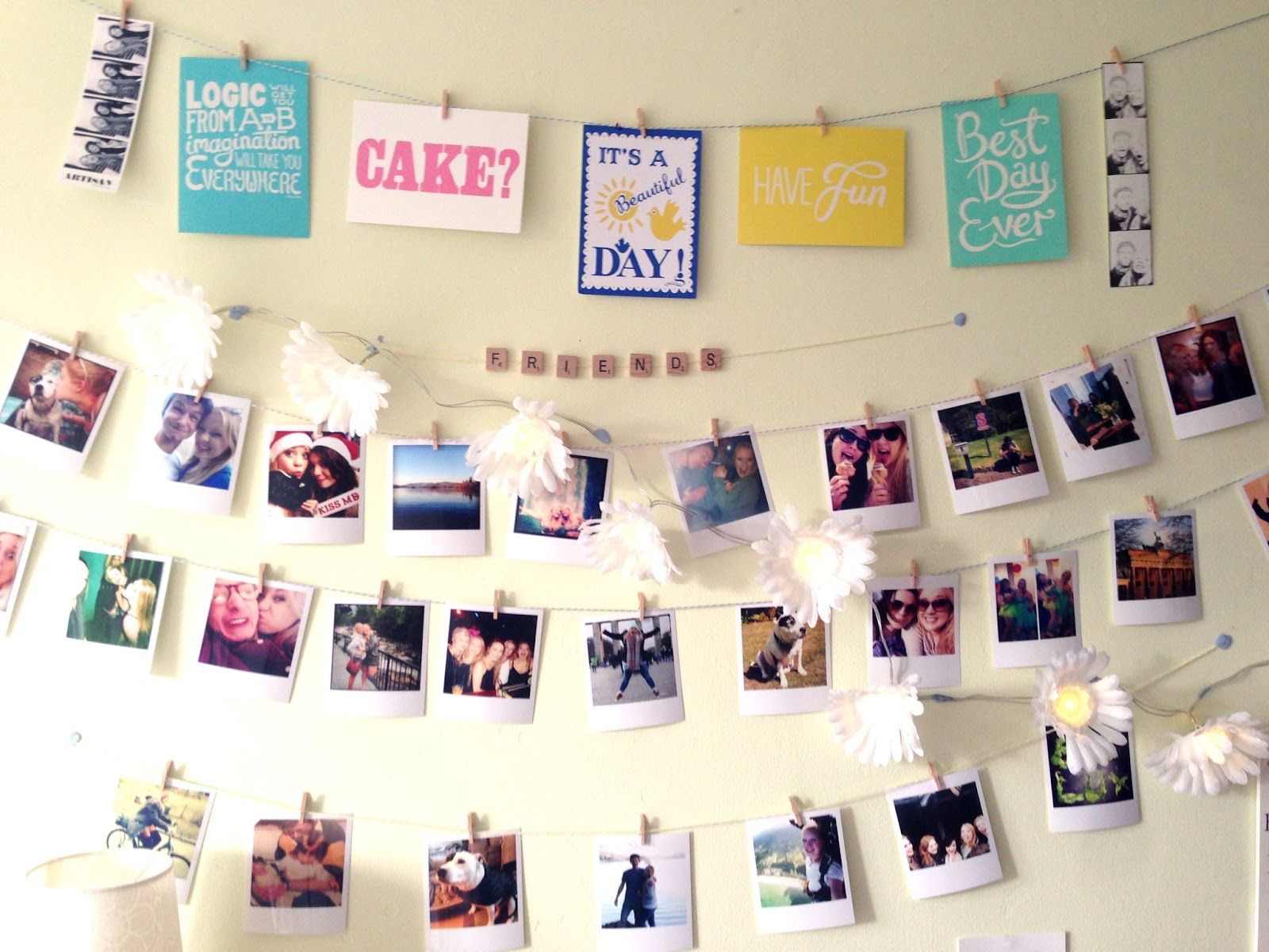 Polaroid Photo Wall Display