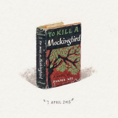 19-To-Kill-a-Mockingbird-Harper-Lee-Lorraine-Loots-Miniature-Paintings-Commemorating-Special-Occasions-www-designstack-co