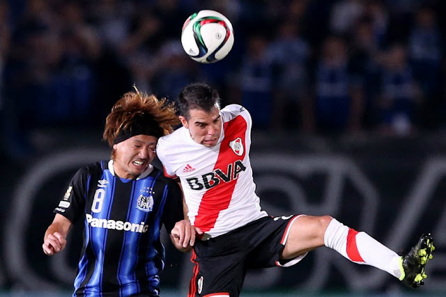 Soberano no jogo, River Plate vence campeão japonês para adicionar mais uma conquista a sua sala de troféus (Foto: Jiji Press)