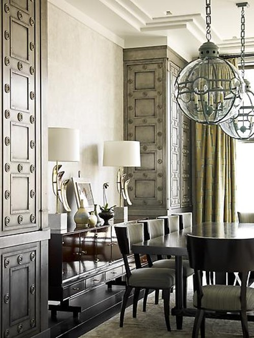 Favorite things colors of the day gold and silver decor - Our fave color for dining room decorating ideas ...