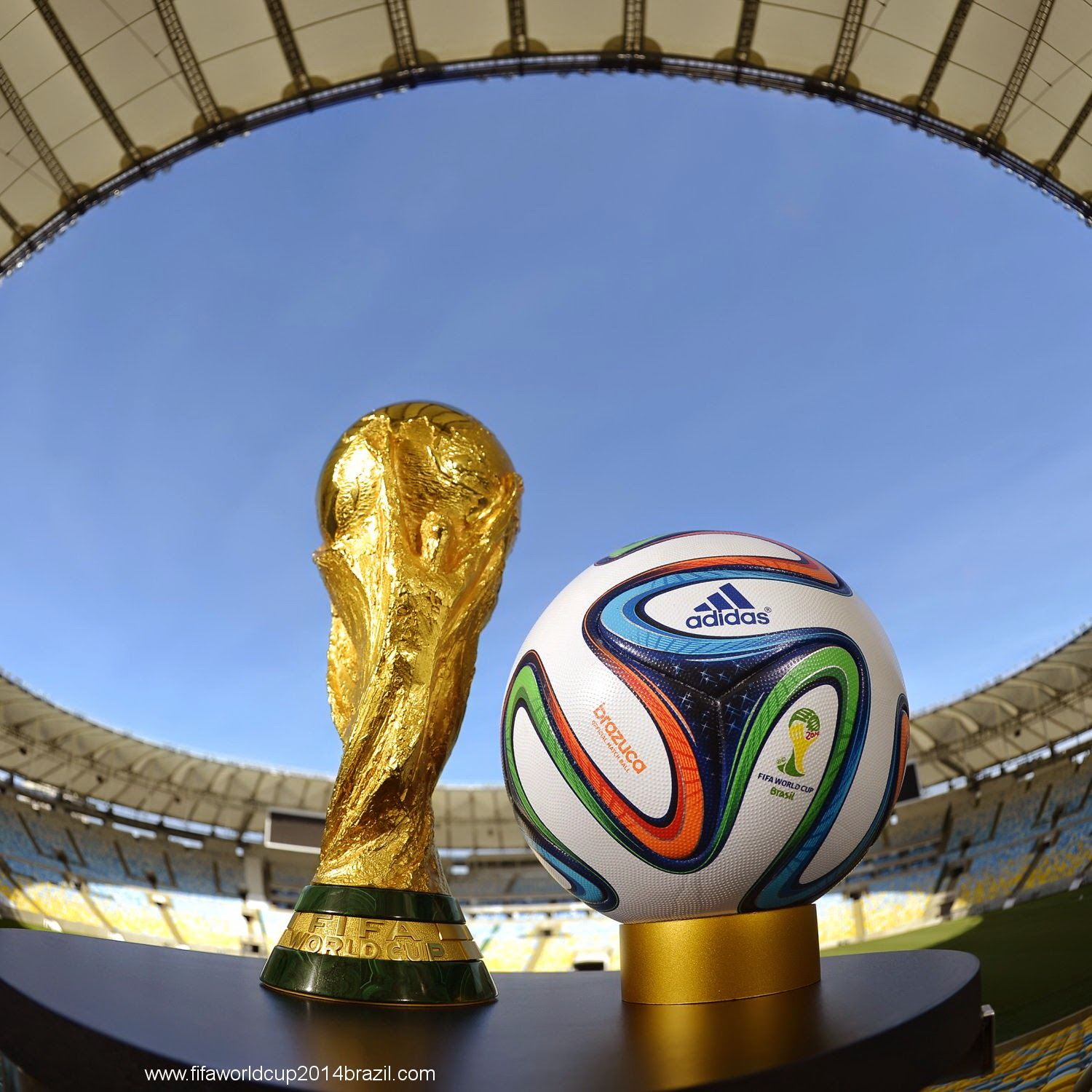 Hi Res General View Of Brazuca And The Fifa World Cup Trophy Crop Wiki