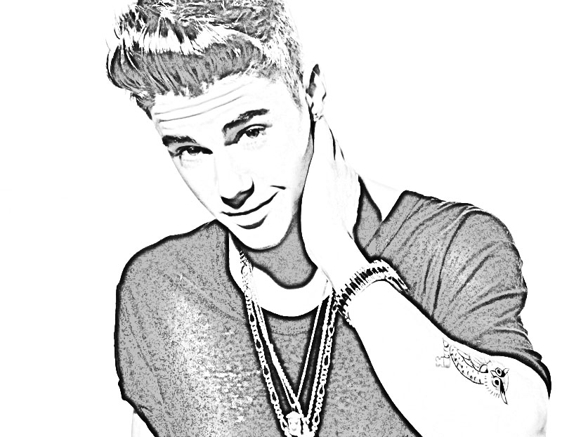 justin bieber coloring pages 2013 - photo#2