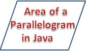 find Area of a parallelogram in java