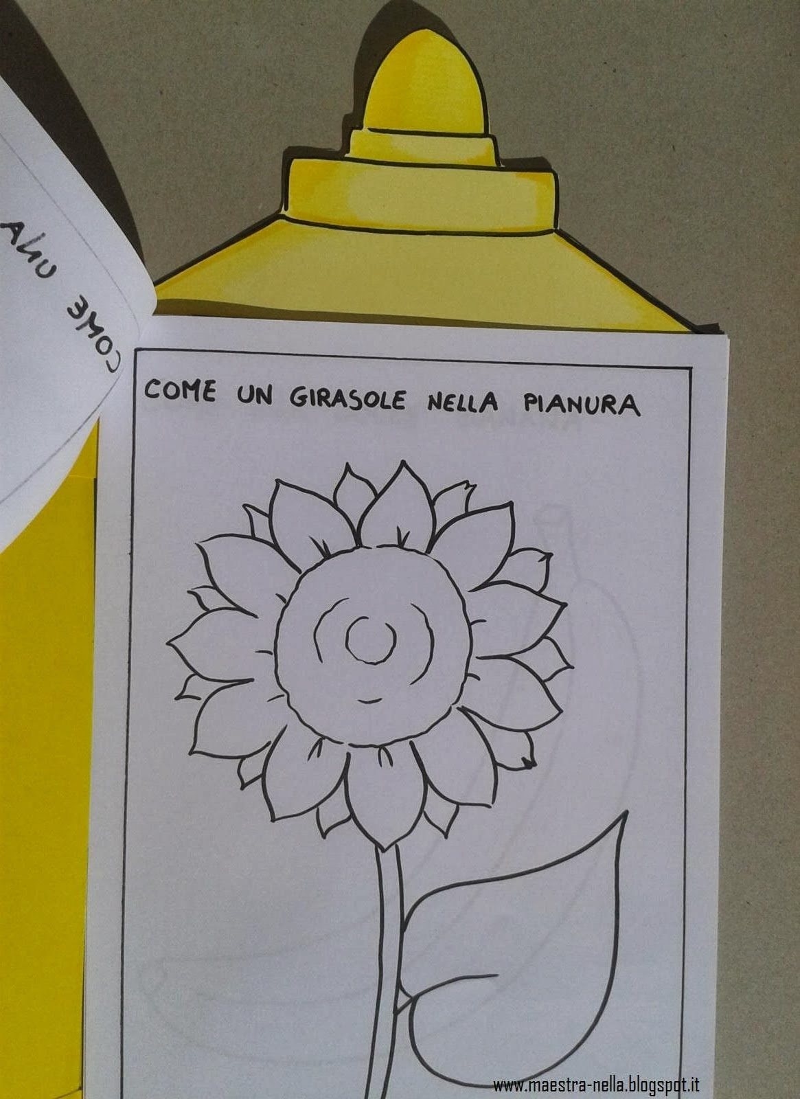 Maestra nella il colore giallo - Modelli di colorazione per bambini ...
