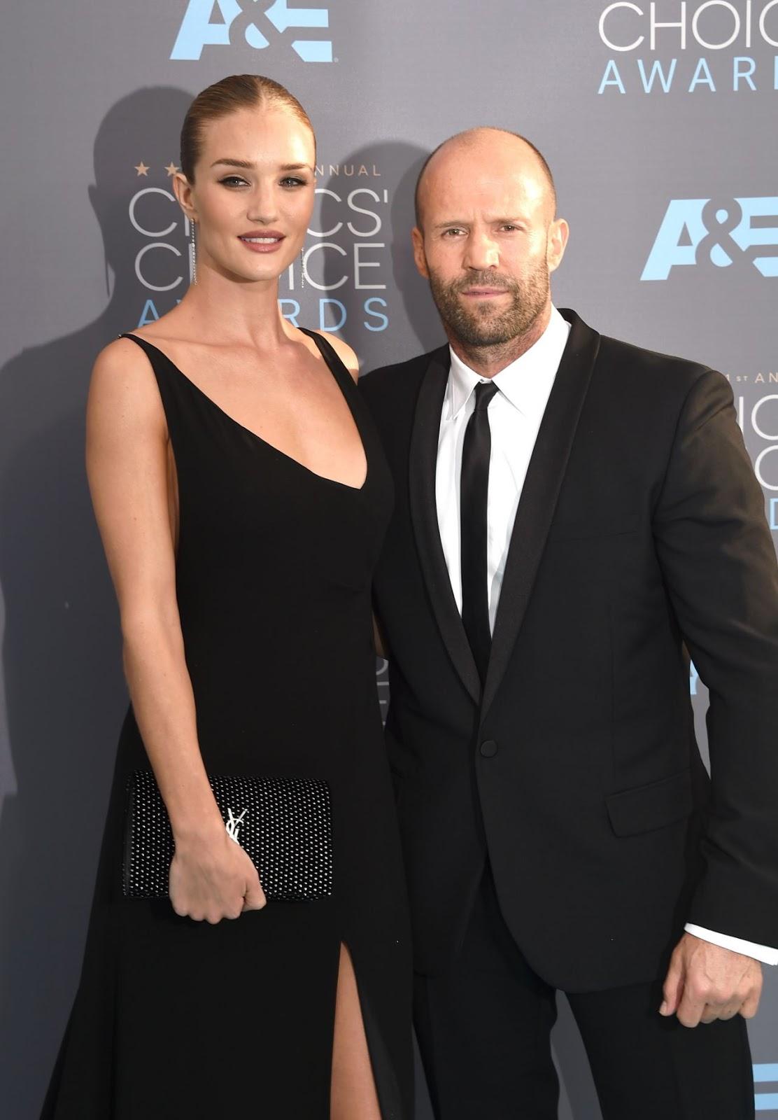 Jason Statham & Rosie Huntington at 2016 Critics Choice Awards