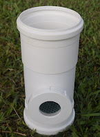 Filtro de passagem vertical 100 mm para água da chuva