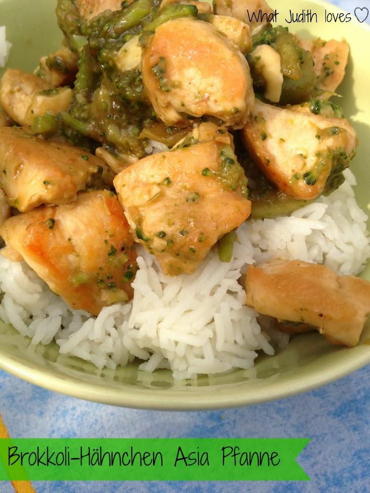 What judith loves rezept brokkoli h hnchen asia pfanne - Reis kochen quellmethode ...