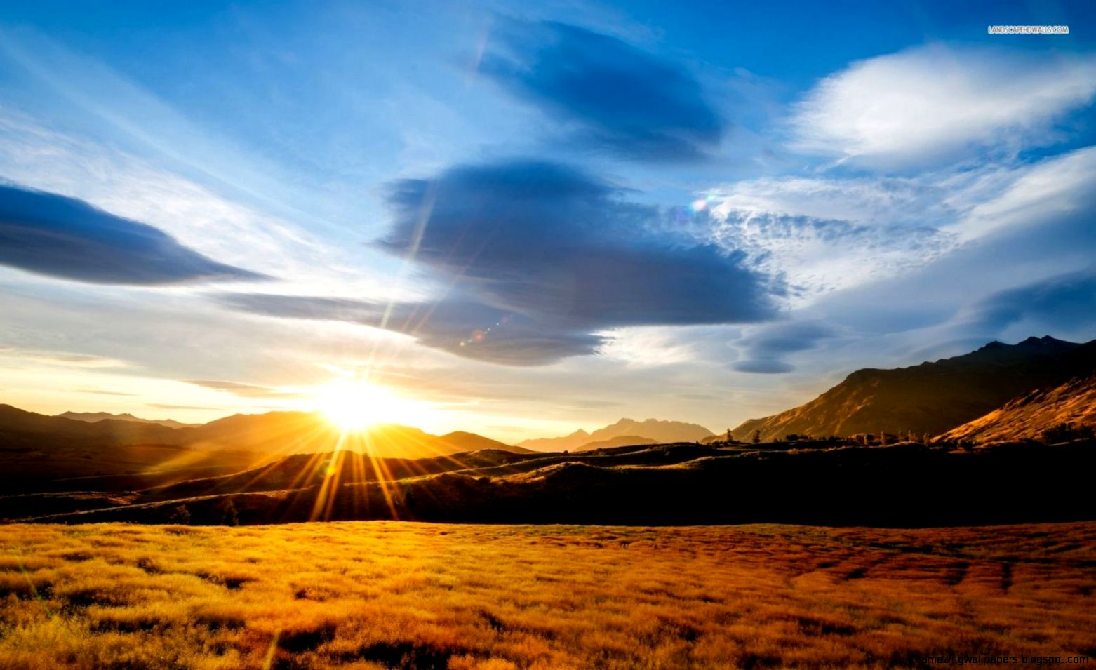 Mountain Sunrise Background Amazing Wallpapers