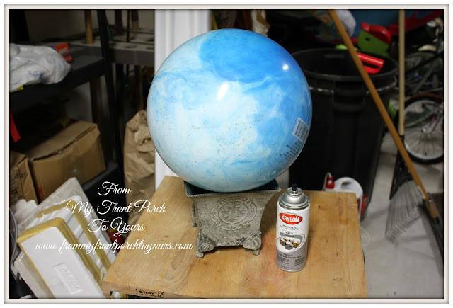 bouncy ball spray painted