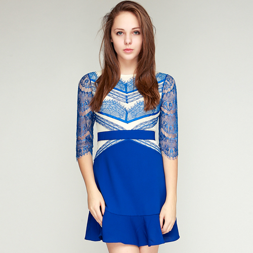 Fantasy Cobalt Blue Lace Dress