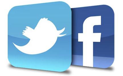 como conectar Facebook y Twitter