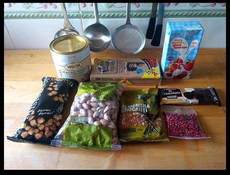 Ingredientes para hacer trufas y sus coberturas