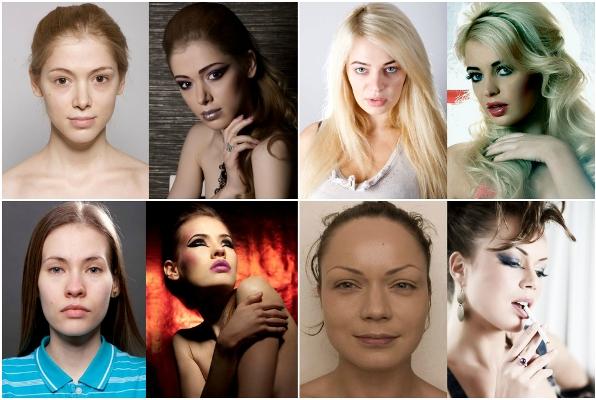 De normales a hermosas – las maravillas del maquillaje