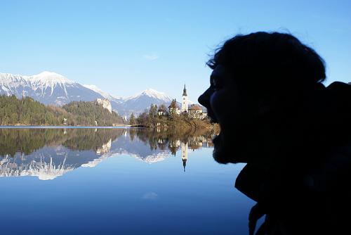 castle church lake europe