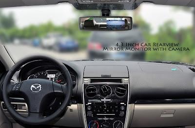 Kaca Spion Kendaraan Beroda Empat Dilengkapi Dengan Monitor 4,3 Inci Dan Kamera