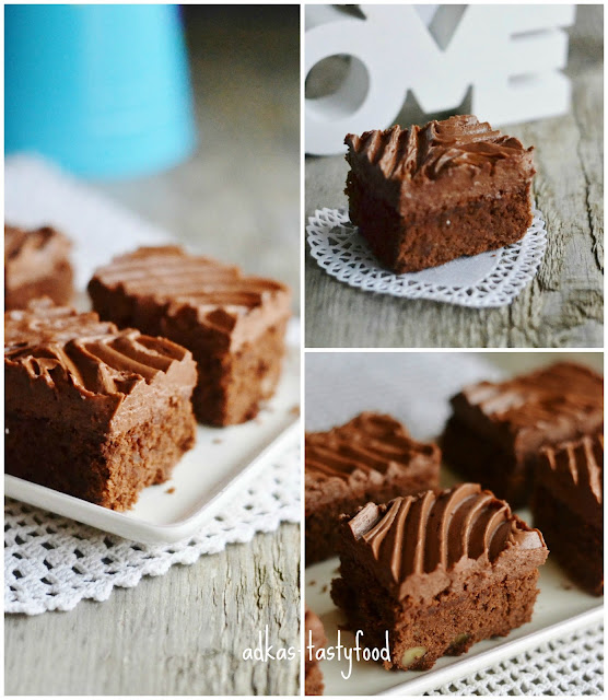 Brownies s čokoládovým krémom