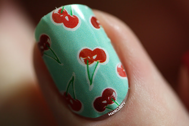 Manicurity | Jamberry Nails Sour Cherry Pie pattern shield wrap