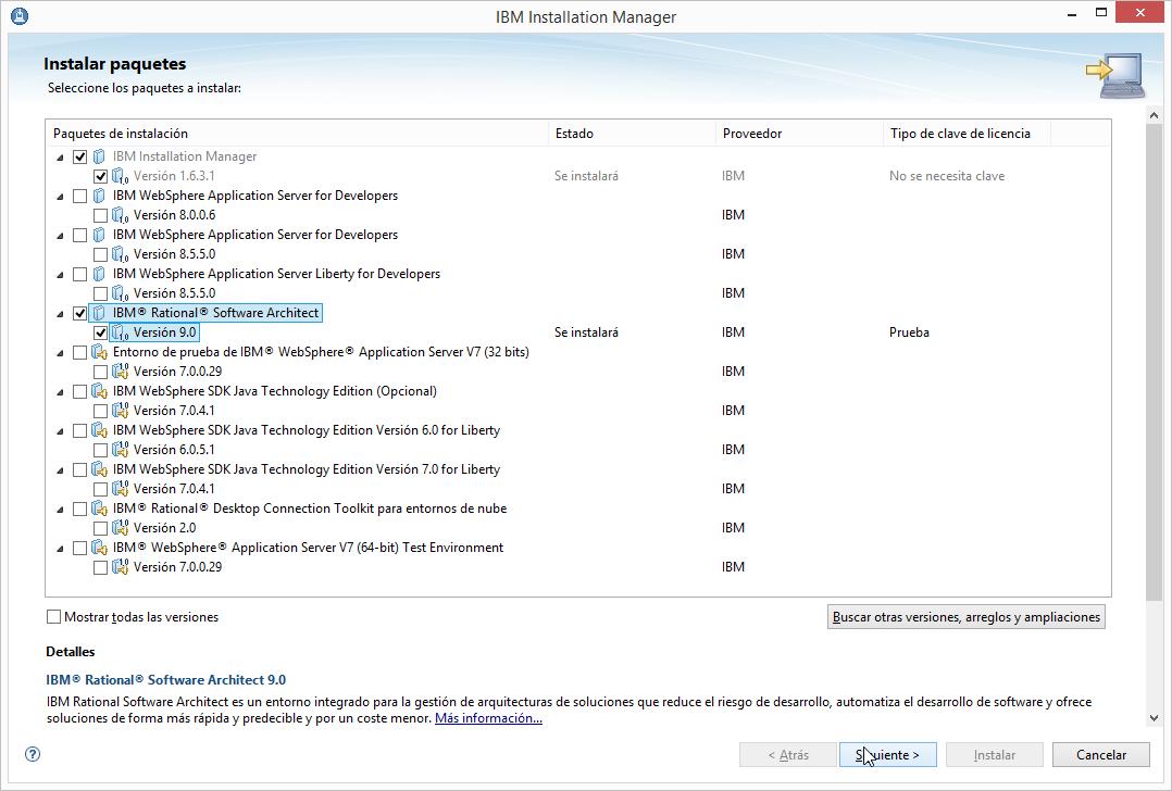 descarga programas  ibm rational software architect 9
