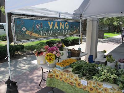 Vang Family Farm booth at WSU Farmers Market