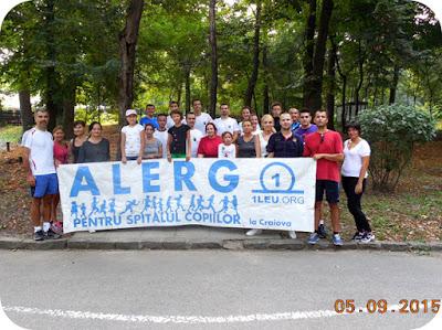 Am alergat pentru Spitalul Copiilor in Septembrie