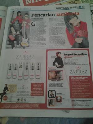 zarraz paramedical di mingguan malaysia pancaindera, bukti kejayaan zarraz paramedical, skin care terbaik dan selamat, cream rawatan jerawat, cream melasma dan pigmentasi, ubat jerawat, ubat jeragat, ubat pigmentasi, zarraz paramedical
