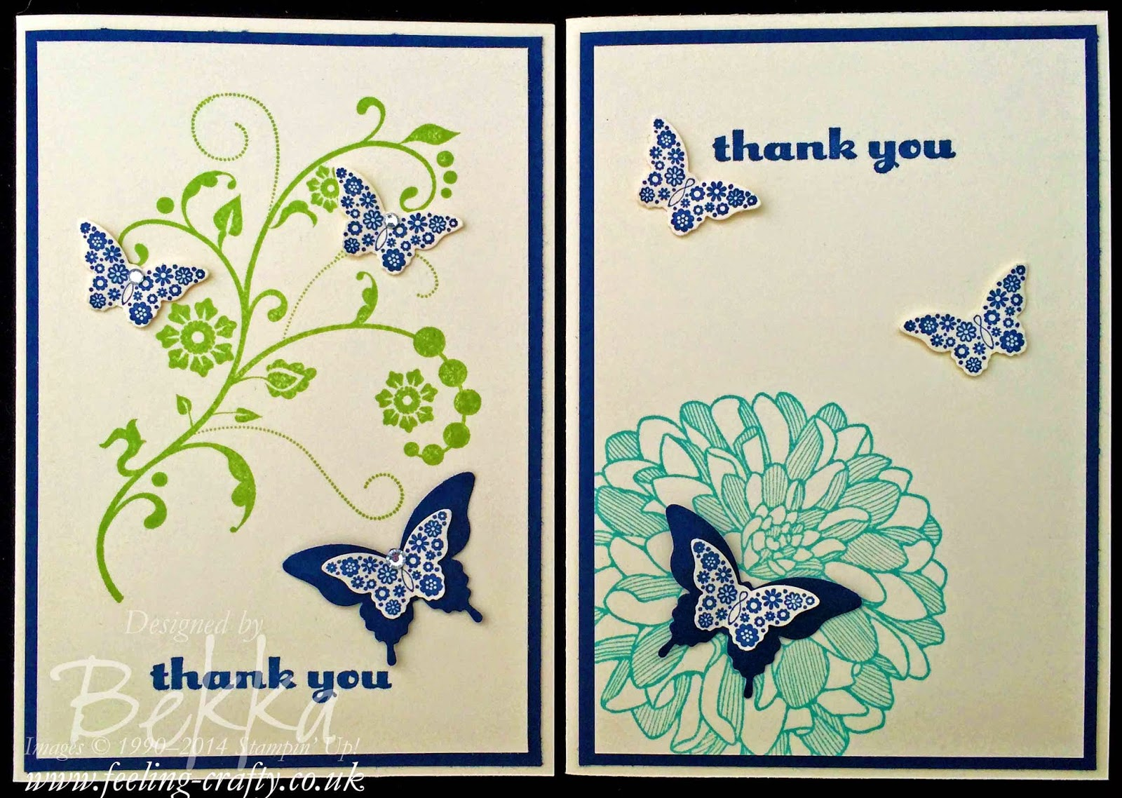 Thank you cards made at a Hen Party - check it out here