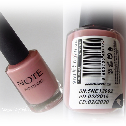 Note Oje / 12 Rose Nude