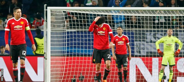 Manchester United failed to advance from the group stage of the Champions League for the fourth time