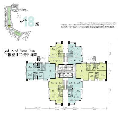 華景山莊第十八座平面圖