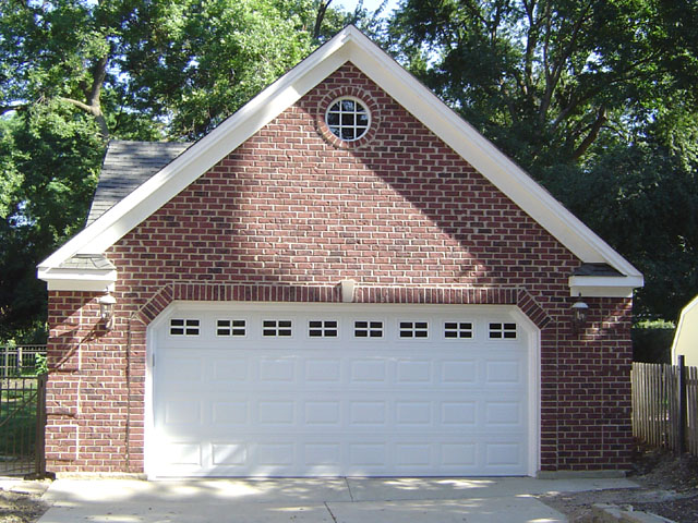 Brick laminate picture brick garages for 3 car detached garage cost