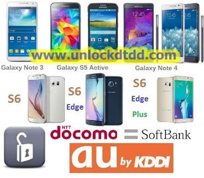 Unlock mo mang samsung galaxy Note edge s5 s6 note 3 s6 edge mang Docomo Au Nhat Ban lay lien