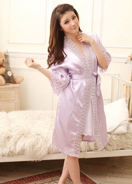 gambar Kimono Lingerie sl1209 Soft Purple