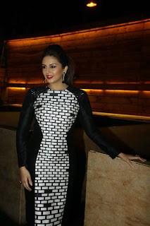 Bollywood Actress Huma Qureshi Picture Gallery in Short Dress at The Cineblitz Magazine Cover Launch  32.JPG