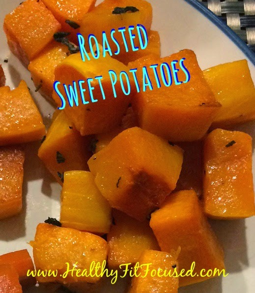 Roasted Sweet Potatoes - 21 Day Fix Approved Recipe, www.HealthyFitFocused.com