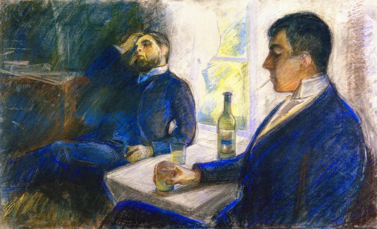 Edvard Munch, Absinthe Drinkers (1890)