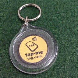 Buy Tap-Me Tag Key rings 38 mm acrylic