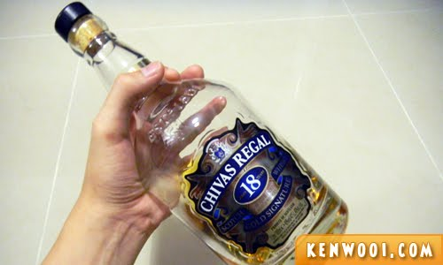 chivas regal bottle