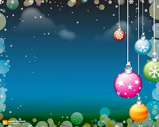 Christmas Decorations Vector Wallpaper