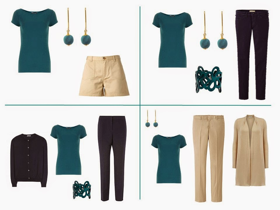 Colors That Go With Teal Part - 31: This Shows The Teal Added To The Khaki And Olive Starting From Scratch  Wardrobe.