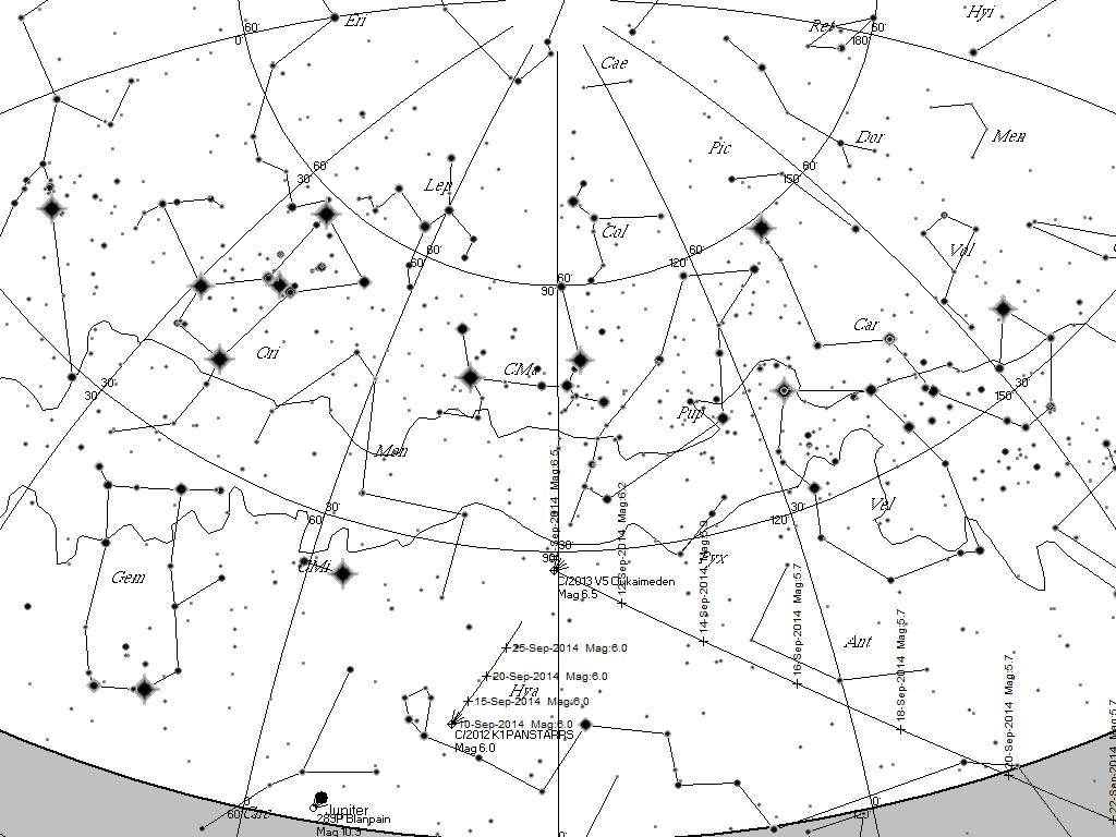 Comet Sky 2013 Comet C/2013 v5 Oukaimeden in