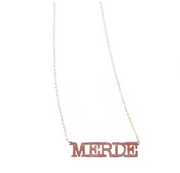 Merde necklace