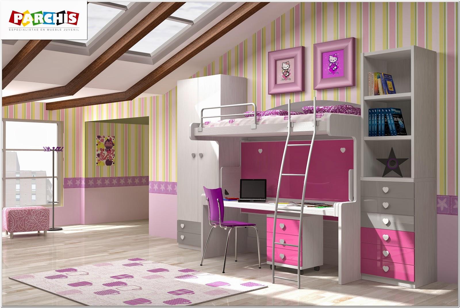 Muebles juveniles dormitorios infantiles y habitaciones for Modelos de habitaciones infantiles