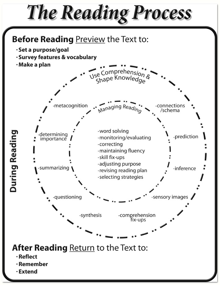 the reading process To learn to read english children who are provided opportunities to learn, think, and talk about new areas of knowledge will gain much from the reading process.