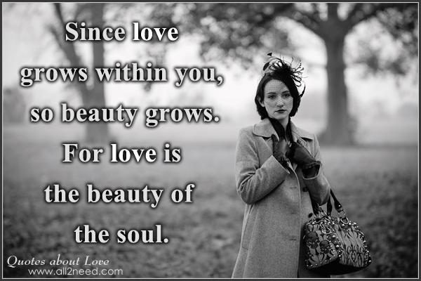 Love Is The Beauty Of Soul