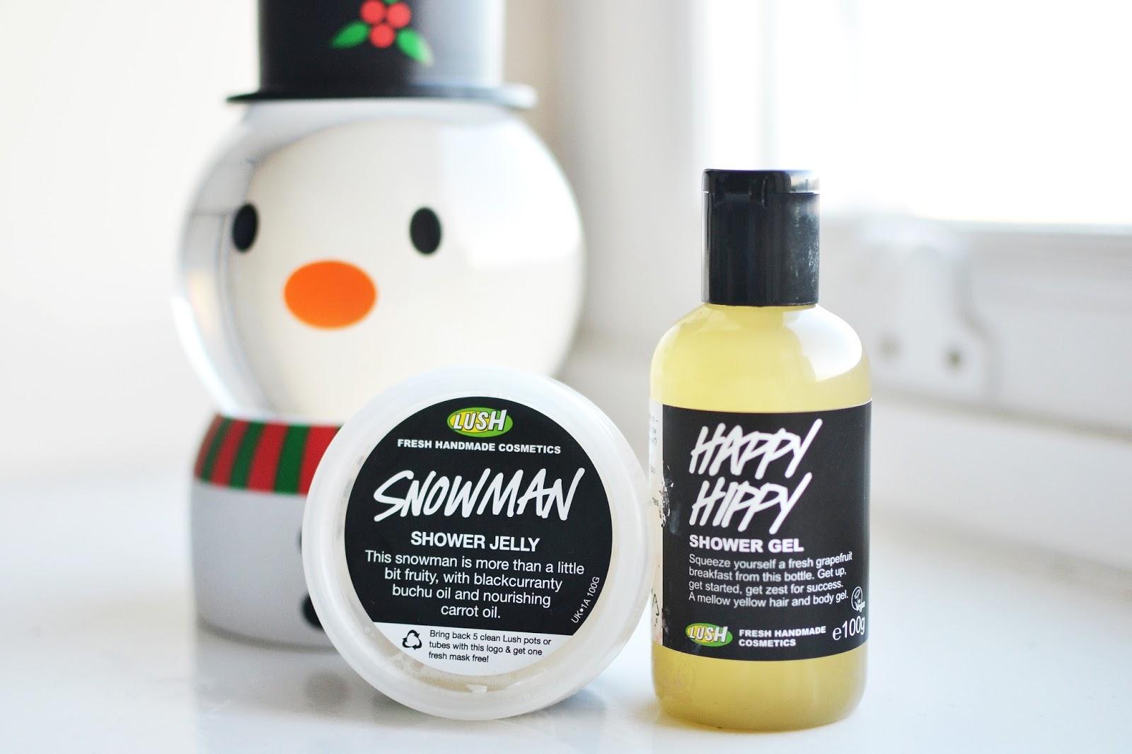 snowman shower jelly lush, lush happy hippy shower gel