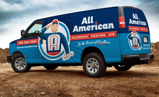 plumbing company fleet branding