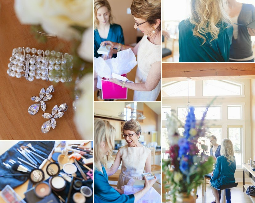 bridal party getting ready photo