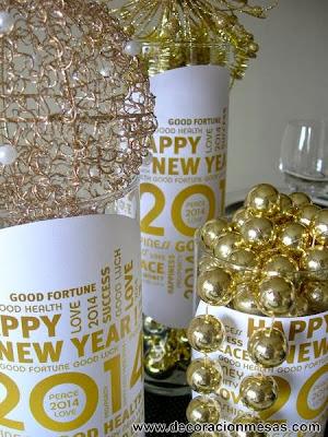Decoracion mesas Feliz Año Nuevo