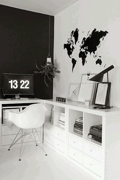10 escritorios en blanco y negro decorar tu casa es - Escritorios en blanco ...
